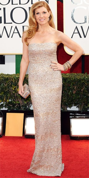 011313-connie-britton-shimmered in a strapless column dress by Kaufmanfranco