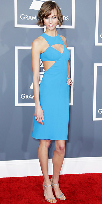 021013-grammys-karlie-kloss-350 jet set in Michael Kors dress love the color